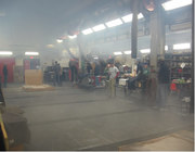 BBQ in the South Pole Garage
