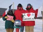 3 Folks from Gardiner at the Soth Pole