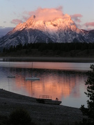 alpenglow on Moran