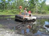 my truck stuck in the mud..