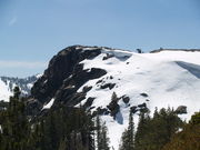 Donner Summit-had to hike through the snow!