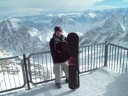mike on top of zugspitze