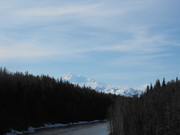 Mt McKinley and the Chulitna River