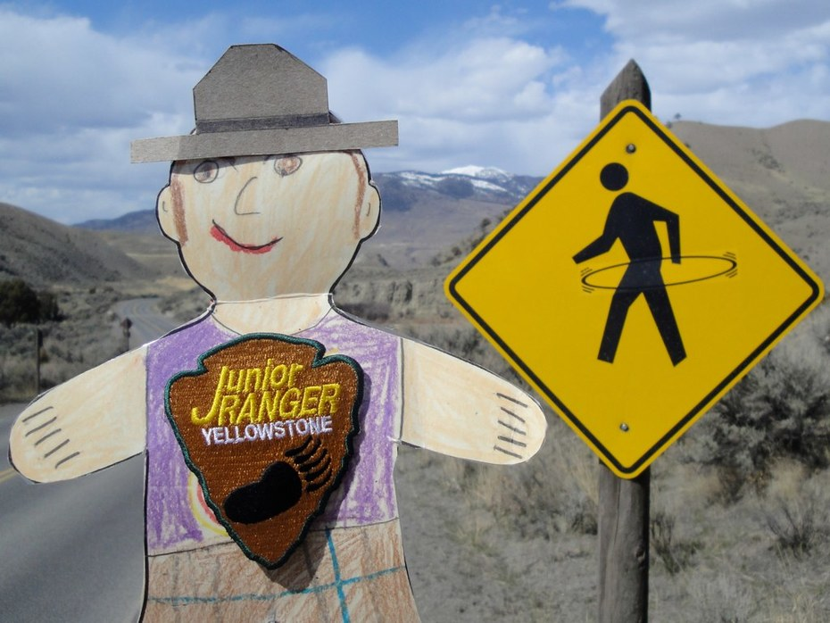 Flat Stanley near the 45th Parallel