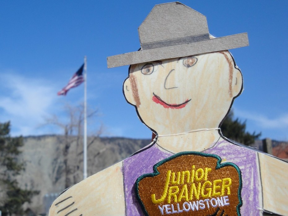 Flat Stanley and the Fort Yellowstone Flag