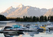Summer's End: Boats at Colter Bay