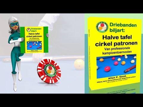 Video boeken voor Driebanden biljart: Halve tafel cirkel patronen (nl)