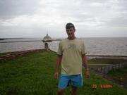 Ao fundo o Rio Amazonas em Macapá-Amapá