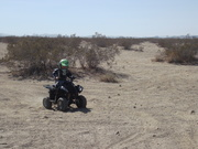 Cole on his quad