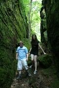 Bradley and Stephanie on Hike