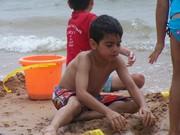 Matthew loving the beach
