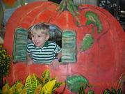 Nicholas at pumpkin patch