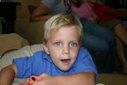 My blue-eyed little man, Wyatt