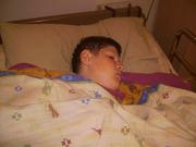 Joshua about to wake up