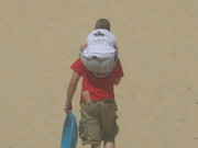 going up Monahans Sand dunes