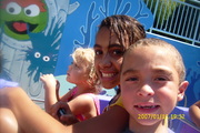 Elijah at Sea World with sister Chloe and cousin Maddie 6/08