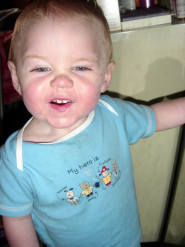 Logan with really funny face