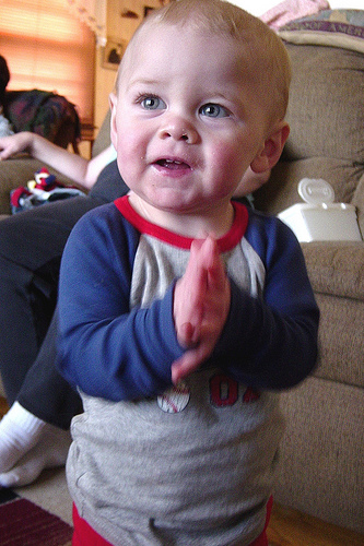 Logan clapping