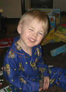 Logan smiling all cute!