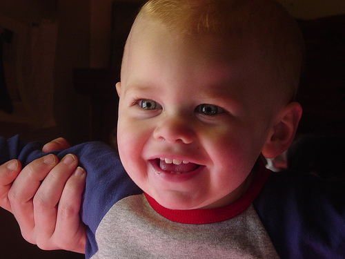 Logan close up smiling big