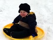 Logan sledding