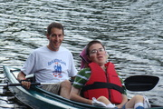 Brian and Matthew kayaking