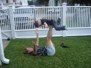 """Brogan get's a """"flying"""" lesson"""