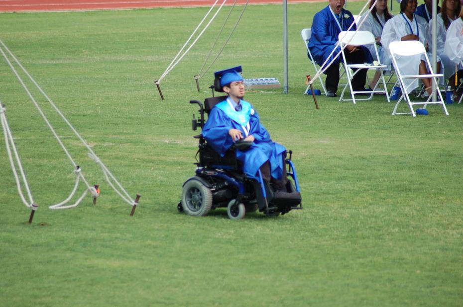Tim at graduation
