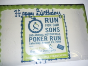 Aidan's Run for Our Sons b-day cake!