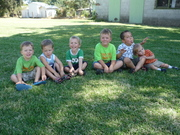 Aidan & Levi with their healthy brothers.