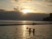 Sunsetting on Wakiki Beach Hawaii