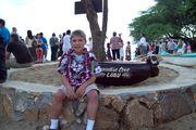 Justin at his Luau Hawaii 08