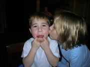 John's first kiss