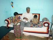 kids with grand father