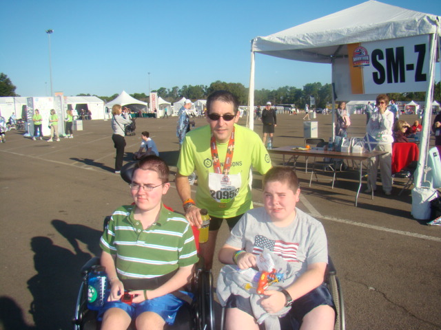 Disney marathon Brian, Matthew and Patrick