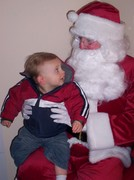 Keelan with Santa