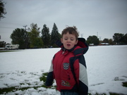 First Snow -- Tanner  Oct. 2009