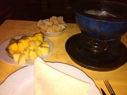 First time eating cheese fondue