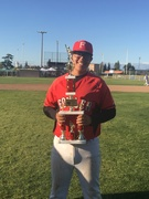 Jeremiah Mejia with Easter Classics jv Championship trophy 2019