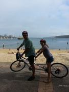 Tandeming with my 10 yo daughter in Manly