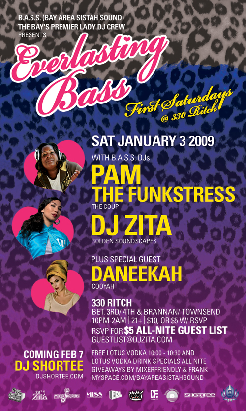 DJ DANEEKAH aka MISS TREES blazin up the spot alongside DJ ZITA & PAM THE FUNKSTRESS