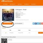 iTunes Charts In India_Poltergeist By Young Gifted Is Number 15