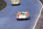 Jo Siffert's Porsche 9008 leads Jo Bonnier's Lola