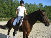 Stacey and Rio (first time riding him)