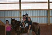 Reece with kids