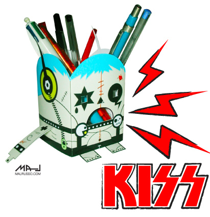 kiss papertoy