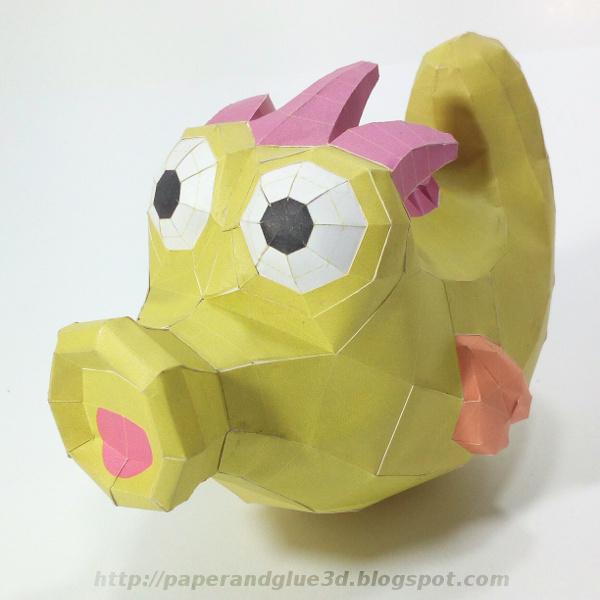 Paper toy de caballito marino