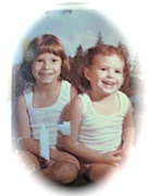 my cousin (left) and me @ about 3 yrs
