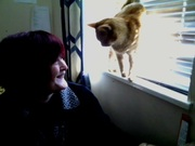 Having a conversation with my cat Thomas!