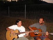 alex and me jamming....